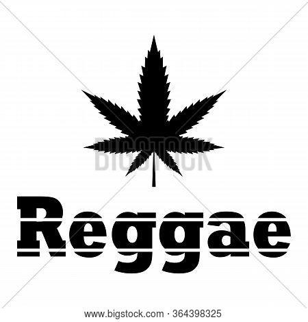 Marijuana Leaf Icon - Medical Cannabis Plant - Marijuana, Weed Poster - Reggae