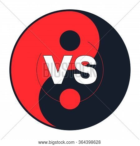 Versus Icon - Vs - White Vs Letters - Yin Yang