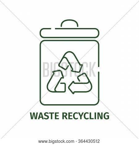 Garbage Recycling Icon On A White Background.