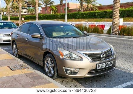 Dubai, Uae - November 16, 2018: Japanese Car Nissan Teana In The City Street.