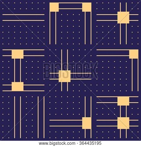 Geometric Seamless Pattern. Bauhaus Style Background. Modern Print. Asymmetric Ctemporary Geo Wallpa