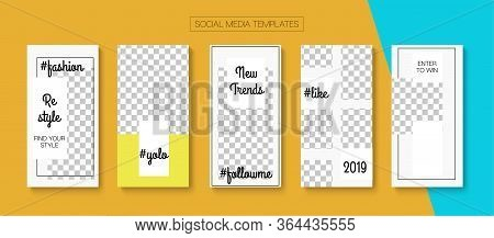 Modern Stories Vector Background. Modern Sale, New Arrivals Story Layout. Blogger Simple Cards, Soci