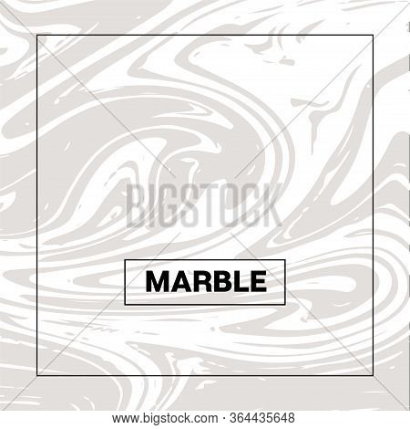 Gray Marble Texture Vector Square Liquid Ink Background. Fluid Paint Suminagashi Trendy Pattern For