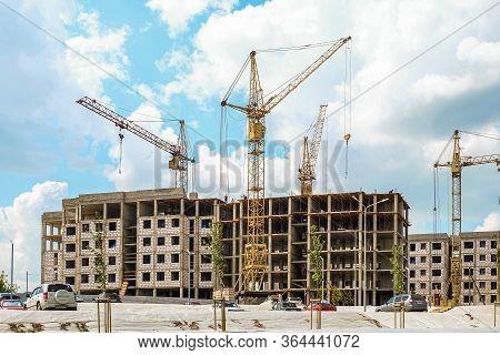 Belgorod, Russia - July 29, 2019: Residential Construction Novaya Zhizn (new Life) District. Southwe