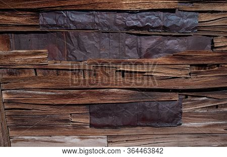 Rustic Outstanding Wood Metal Wall Texture. Beautiful Backdrop.