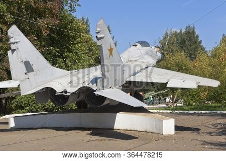 Vologda, Russia - August 20, 2019: Mig-29 Fighter In Victory Park In The City Of Vologda