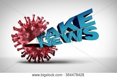 Covid-19 Fake News And Coronavirus Scams Or Medical Lies And Virus Scam As Dishonest Liars Spreading