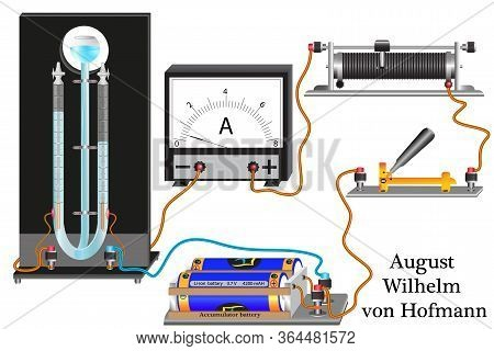 A Demonstration Experiment In Physics, The Study Of A Gas Voltmeter Or A Hoffmann Voltmeter, During