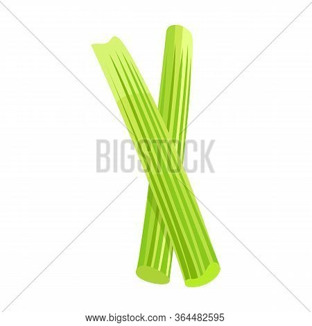 Stick Of Celery Vector Icon.cartoon Vector Icon Isolated On White Background Stick Of Celery.