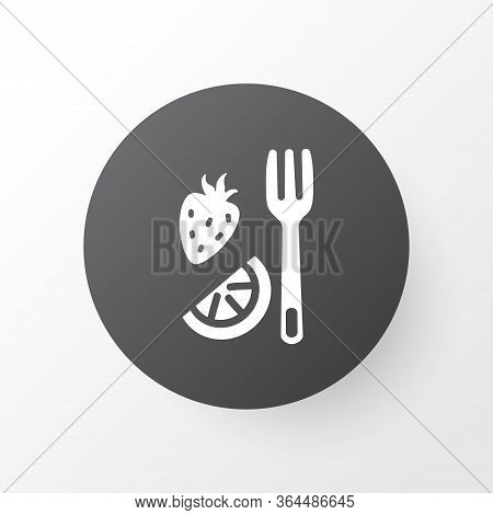 Fruit Fork Icon Symbol. Premium Quality Isolated Silverware Element In Trendy Style.