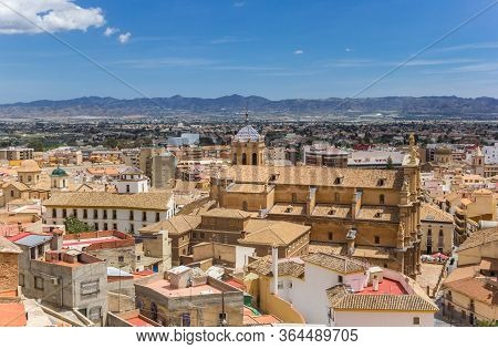 View Over Historic City Lorca And The Surrounding Mountains In Spain