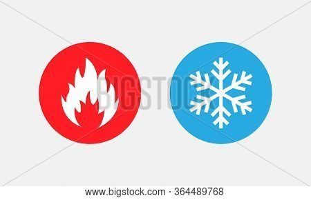 Symbol Of Warmth And Cold. Heat And Cold Sign. Vector Eps 10