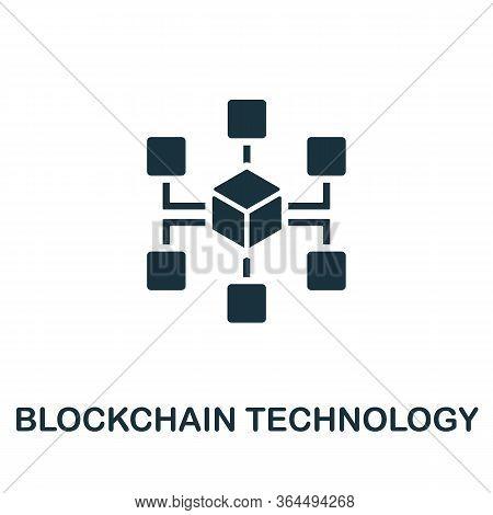 Blockchain Technology Icon. Simple Illustration From Fintech Industry Collection. Creative Blockchai