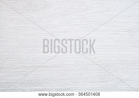 Teak Wood Paint White Color Plank Texture Surface Background. Closeup Of Old Wooden Grunge Texture O