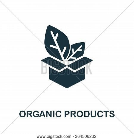 Organic Products Icon From Organic Farming Collection. Simple Line Organic Products Icon For Templat