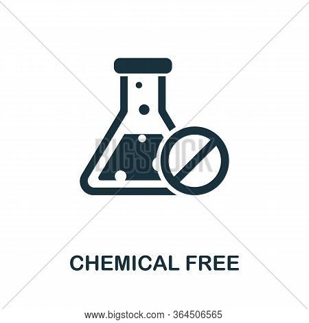 Chemical Free Icon From Organic Farming Collection. Simple Line Chemical Free Icon For Templates, We