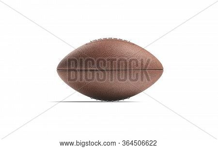 Blank Brown American Soccer Ball Mock Up, Side View, 3d Rendering. Empty America Sports Bal For Leis
