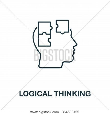 Logical Thinking Icon From Personality Collection. Simple Line Logical Thinking Icon For Templates,