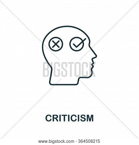 Criticism Icon From Personality Collection. Simple Line Criticism Icon For Templates, Web Design And