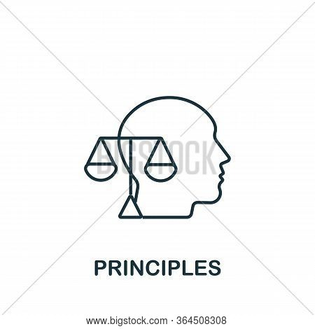 Principles Icon From Personality Collection. Simple Line Principles Icon For Templates, Web Design A