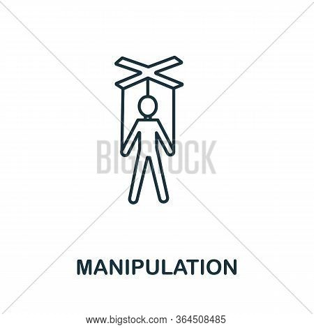 Manipulation Icon From Personality Collection. Simple Line Manipulation Icon For Templates, Web Desi