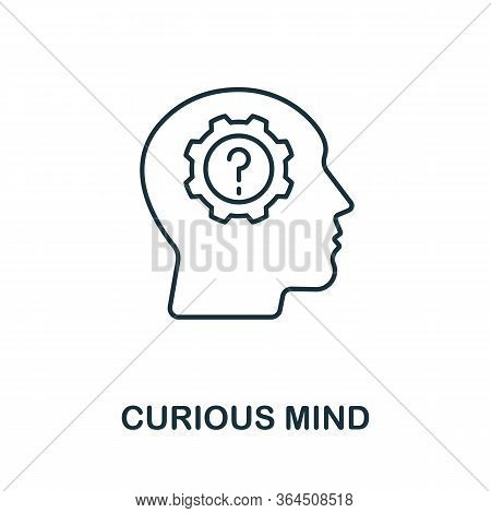 Curious Mind Icon From Personality Collection. Simple Line Curious Mind Icon For Templates, Web Desi