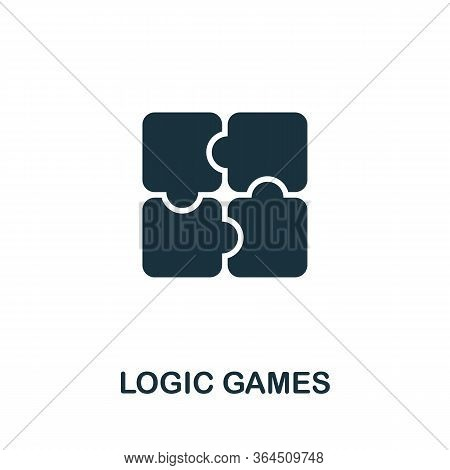 Logic Games Icon From Video Games Collection. Simple Line Logic Games Icon For Templates, Web Design