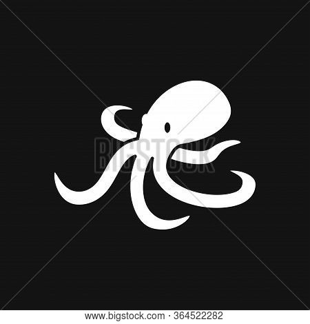 Octopus Icon. Vector Of An Octopus Design On White Background. Aquatic Animals.