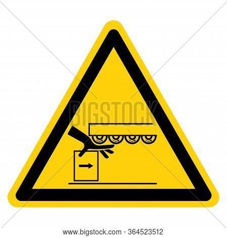 Warning Drawing In Hand Crush Hazard Symbol Sign ,vector Illustration, Isolate On White Background L