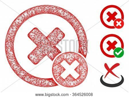 Mesh False Negative Polygonal Web Icon Vector Illustration. Model Is Based On False Negative Flat Ic