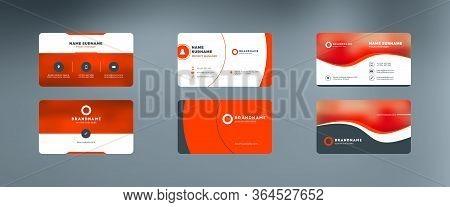 Set Of Modern Business Cards. Vector Illustration. Stationery Design