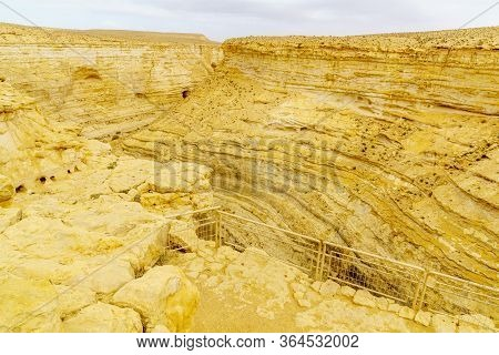 Upper View Of The Canyon Of Ein Avdat National Park, The Negev Desert, Southern Israel