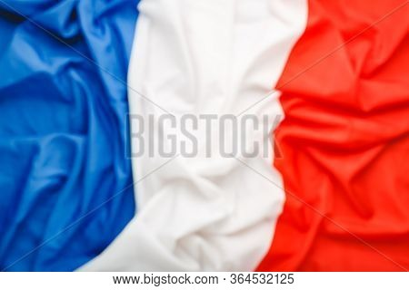 France Flag Background Blurred For Design. French National Flag As Symbol Of Democracy, Patriot. Clo