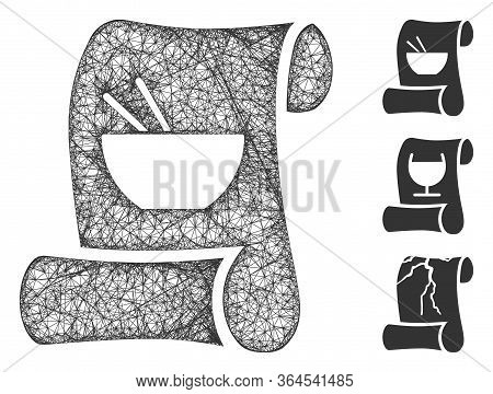 Mesh Original Asian Recipe Polygonal Web Symbol Vector Illustration. Carcass Model Is Based On Origi