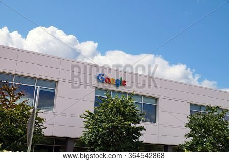 One Of The Google Corporation Buildings. Kirkland, Washington State. Usa.