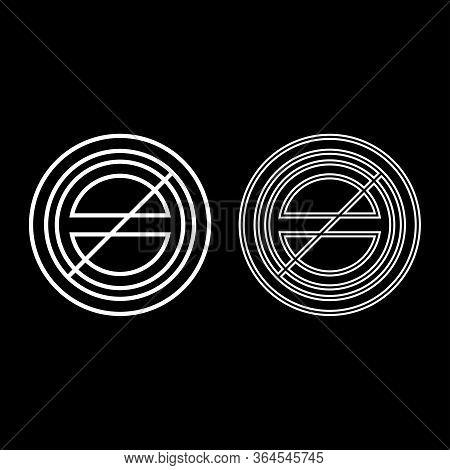 Halogen Symbol Type Cooking Surfaces Sign Utensil Destination Panel Icon Outline Set White Color Vec