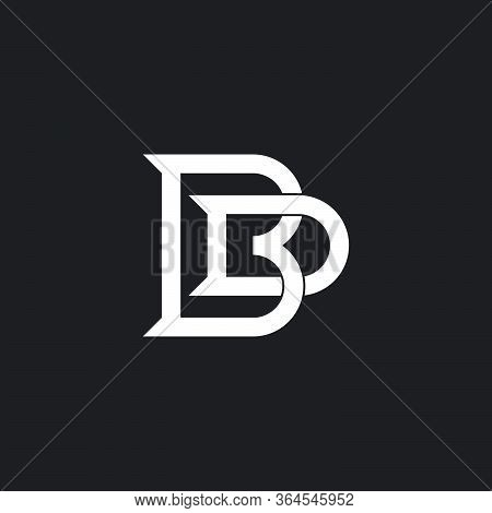 Abstract Letter Bd Overlapping Line Design Logo Vector