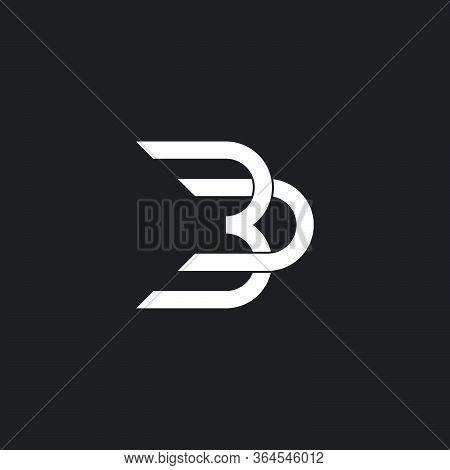 Abstract Letter Bd Linked Geometric Overlap Design Logo Vector