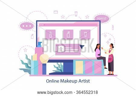 Make Up Online Service. Online Make Up Artist.