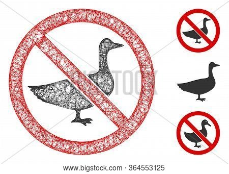 Mesh No Goose Polygonal Web 2d Vector Illustration. Model Is Based On No Goose Flat Icon. Triangle M