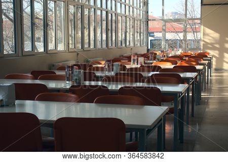 19 02 2020 Ankara Turkey: Shot Of Empty Highschool Classroom Due To Measures Taken Regarding Global