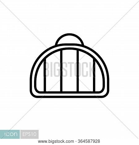Pet Carrier Vector Icon. Pet Animal Sign. Graph Symbol For Pet And Veterinary Web Site And Apps Desi
