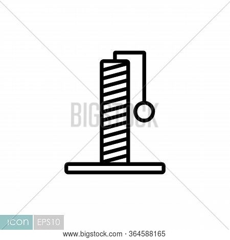 Cat Claw Point Vector Icon. Pet Animal Sign. Graph Symbol For Pet And Veterinary Web Site And Apps D