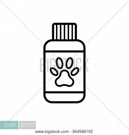 Pet Shampoo Vector Icon. Pet Animal Sign. Graph Symbol For Pet And Veterinary Web Site And Apps Desi