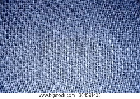 Blue Rough Fabric Or Burlap For Background And Design