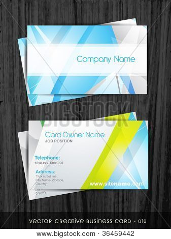 poster of vector creative business card template