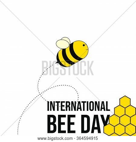 International Bee Day. Bee Day Typography. Nectar Icon. Vector Illustration.