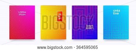 Pattern Background Geometric Line In Halftone Color Gradient, Vector Abstract Trendy Graphic. Simple