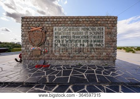 Dunkirk, France - August 13, 2019: The Operation Dynamo Memorial To Allied Forces In Dunkirk