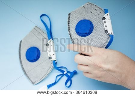 Medical Respirator With Valve Ffp2.aerosol Respirator.anti Virus Mask For Corona Virus Sars Infectio